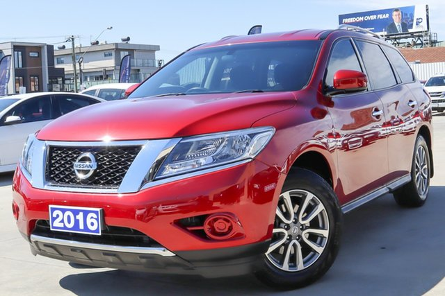 Used Nissan Pathfinder R52 MY16 ST X-tronic 2WD Coburg North, 2016 Nissan Pathfinder R52 MY16 ST X-tronic 2WD Red 1 Speed Constant Variable Wagon