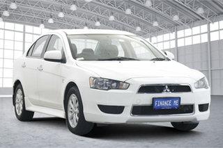 2012 Mitsubishi Lancer CJ MY13 LX White 6 Speed Constant Variable Sedan.