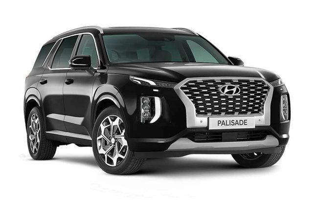 Demo Hyundai Palisade Highlander Cardiff, 2021 Hyundai Palisade LX2.V2 Highlander Abyss Black 8 Speed Automatic Wagon