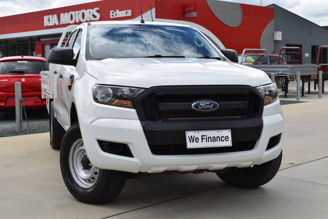 Used Ford Ranger PX MkII XL Echuca, 2015 Ford Ranger PX MkII XL White 6 Speed Manual Cab Chassis