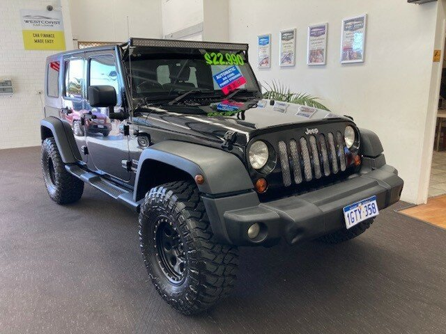 Used Jeep Wrangler JK MY2010 Unlimited Sport Wangara, 2009 Jeep Wrangler JK MY2010 Unlimited Sport Black 4 Speed Automatic Softtop