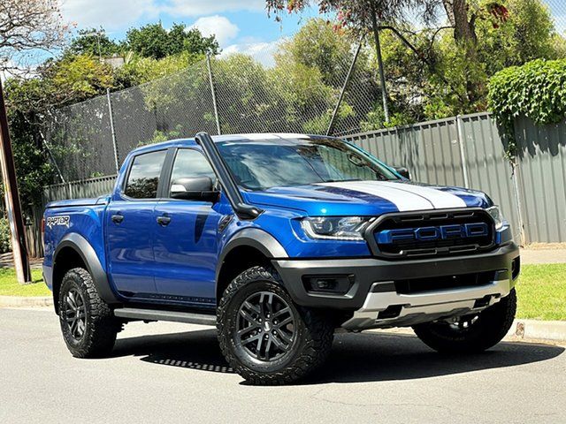 Used Ford Ranger PX MkIII 2019.00MY Raptor Hyde Park, 2018 Ford Ranger PX MkIII 2019.00MY Raptor Blue 10 Speed Sports Automatic Utility