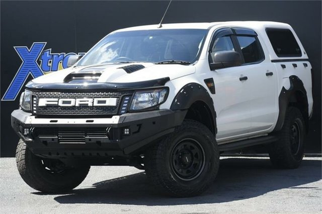 Used Ford Ranger PX XL Hi-Rider Campbelltown, 2014 Ford Ranger PX XL Hi-Rider White 6 Speed Sports Automatic Utility