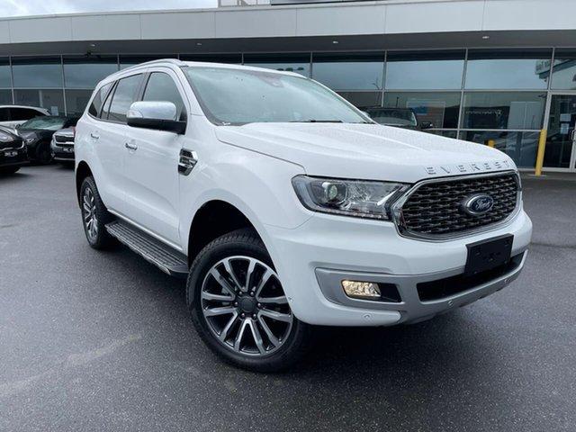 Used Ford Everest UA II 2021.25MY Titanium Essendon Fields, 2021 Ford Everest UA II 2021.25MY Titanium White 10 Speed Sports Automatic SUV