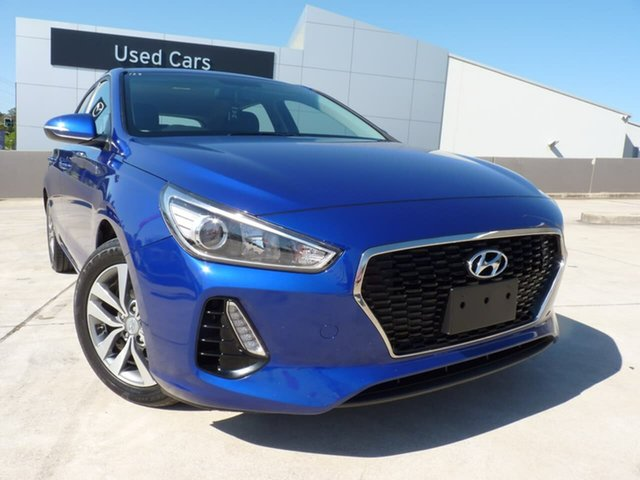 Pre-Owned Hyundai i30 PD2 MY20 Active Blacktown, 2019 Hyundai i30 PD2 MY20 Active Intense Blue 6 Speed Sports Automatic Hatchback