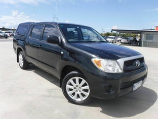 2008 Toyota Hilux GGN15R MY08 SR 4x2 Black 5 Speed Automatic Utility.