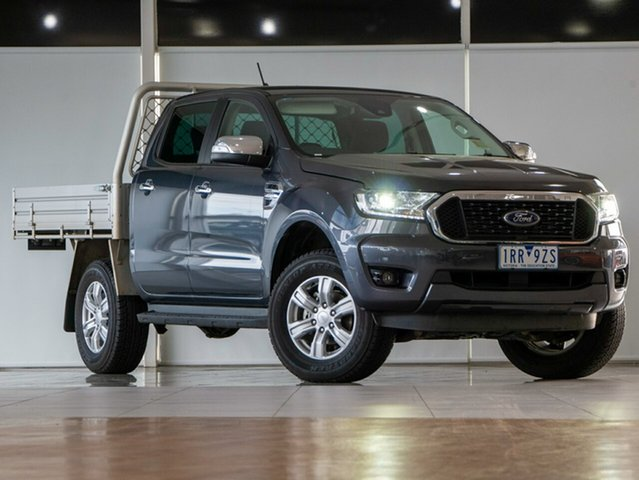 Used Ford Ranger PX MkIII 2021.25MY XLT Double Cab Deer Park, 2020 Ford Ranger PX MkIII 2021.25MY XLT Double Cab Meteor Grey 6 Speed Sports Automatic