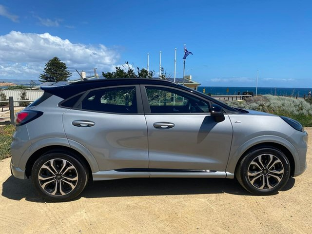 Used Ford Puma JK 2021.25MY ST-Line Christies Beach, 2020 Ford Puma JK 2021.25MY ST-Line Silver 7 Speed Sports Automatic Dual Clutch Wagon