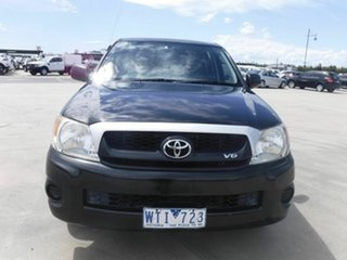 2008 Toyota Hilux GGN15R MY08 SR 4x2 Black 5 Speed Automatic Utility