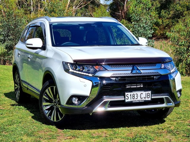 Demo Mitsubishi Outlander ZL MY21 Exceed AWD Morphett Vale, 2020 Mitsubishi Outlander ZL MY21 Exceed AWD White 6 Speed Constant Variable Wagon