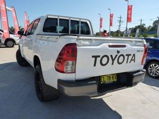 2017 Toyota Hilux GUN136R SR Double Cab 4x2 Hi-Rider Glacier White 6 Speed Sports Automatic Utility.