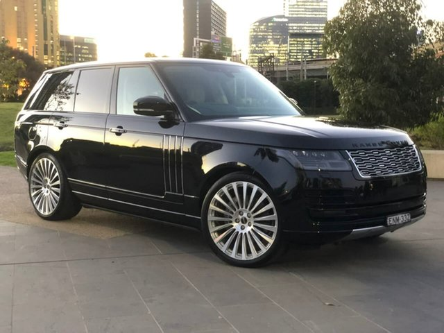 Used Land Rover Range Rover L405 18MY Autobiography South Melbourne, 2018 Land Rover Range Rover L405 18MY Autobiography Black 8 Speed Sports Automatic Wagon