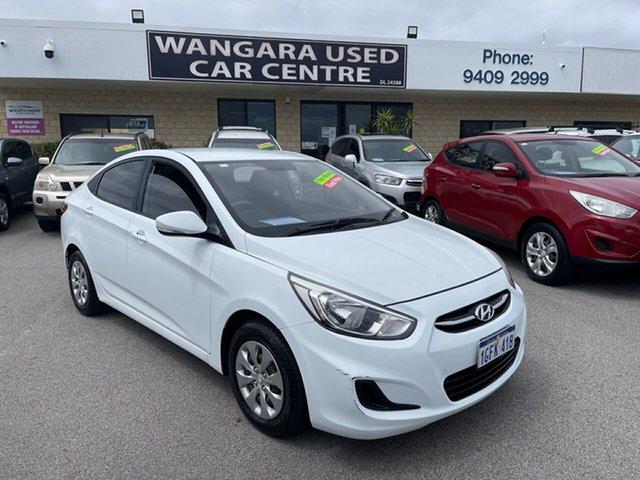Used Hyundai Accent RB4 MY17 Active Wangara, 2017 Hyundai Accent RB4 MY17 Active White 6 Speed CVT Auto Sequential Sedan