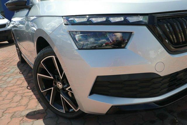 New Skoda Kamiq NW MY21 110TSI DSG FWD Monte Carlo Parramatta, 2021 Skoda Kamiq NW MY21 110TSI DSG FWD Monte Carlo Brilliant Silver 7 Speed