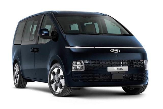 New Hyundai Staria Cardiff, 2021 Hyundai Staria US4 Staria Moonlight Blue 8 Speed Automatic Wagon