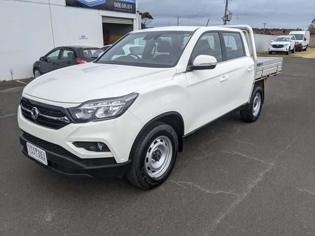 Used Ssangyong Musso Q200 MY20 EX Crew Cab Warrnambool East, 2019 Ssangyong Musso Q200 MY20 EX Crew Cab White 6 Speed Manual Utility