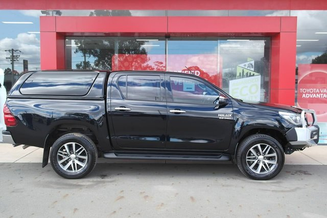 Used Toyota Hilux GUN126R SR5 Double Cab Swan Hill, 2018 Toyota Hilux GUN126R SR5 Double Cab Black 6 Speed Sports Automatic Utility