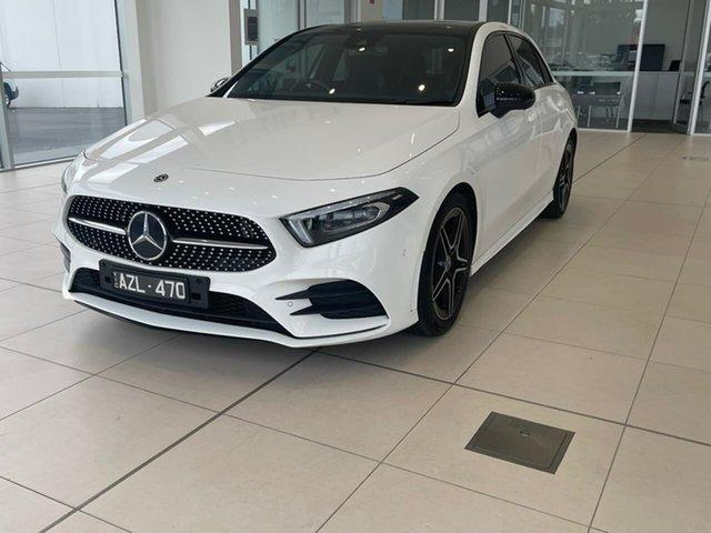 Used Mercedes-Benz A-Class W177 A180 DCT Essendon Fields, 2019 Mercedes-Benz A-Class W177 A180 DCT White 7 Speed Sports Automatic Dual Clutch Hatchback