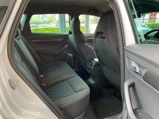 2021 Skoda Karoq NU MY21 140TSI DSG AWD Sportline White 7 Speed Sports Automatic Dual Clutch Wagon