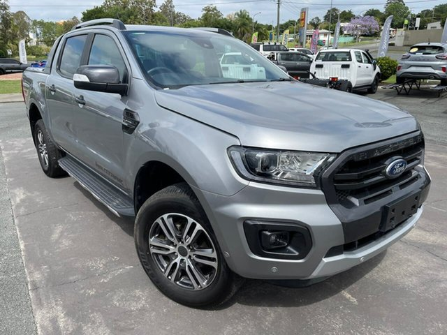 Used Ford Ranger PX MkIII 2020.75MY Wildtrak Gympie, 2020 Ford Ranger PX MkIII 2020.75MY Wildtrak Aluminium 10 Speed Sports Automatic Double Cab Pick Up