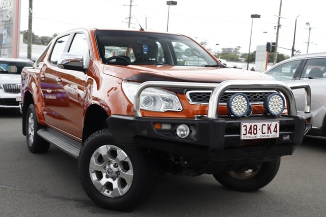 Used Holden Colorado RG MY15 LTZ Crew Cab Mount Gravatt, 2014 Holden Colorado RG MY15 LTZ Crew Cab Orange 6 Speed Sports Automatic Utility