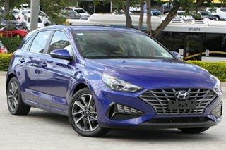 2021 Hyundai i30 PD.V4 MY22 Active Intense Blue 6 Speed Sports Automatic Hatchback.