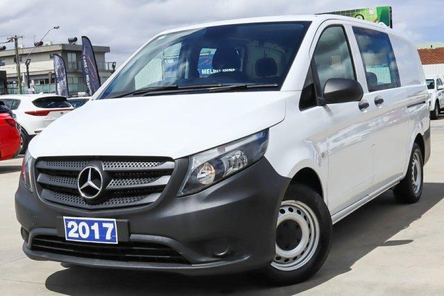 Used Mercedes-Benz Vito 447 114BlueTEC Crew Cab MWB 7G-Tronic + Coburg North, 2017 Mercedes-Benz Vito 447 114BlueTEC Crew Cab MWB 7G-Tronic + White 7 Speed Sports Automatic Van