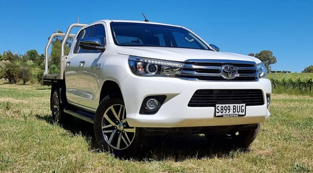 Used Toyota Hilux GUN126R SR5 Double Cab Nuriootpa, 2018 Toyota Hilux GUN126R SR5 Double Cab White 6 Speed Sports Automatic Utility
