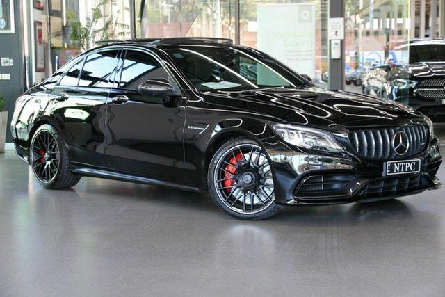 Used Mercedes-Benz C-Class W205 801MY C63 AMG SPEEDSHIFT MCT S North Melbourne, 2021 Mercedes-Benz C-Class W205 801MY C63 AMG SPEEDSHIFT MCT S Black 9 Speed Sports Automatic Sedan