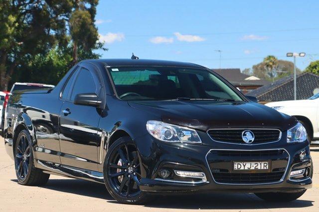 Used Holden Ute VF MY14 SS V Ute Redline Chullora, 2014 Holden Ute VF MY14 SS V Ute Redline Black 6 Speed Sports Automatic Utility