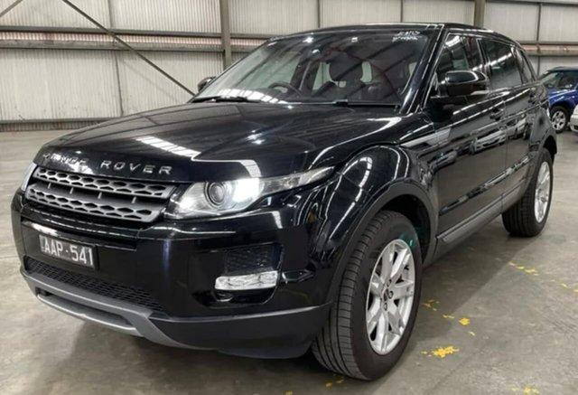 Used Land Rover Range Rover Evoque L538 MY13 SD4 CommandShift Pure South Melbourne, 2012 Land Rover Range Rover Evoque L538 MY13 SD4 CommandShift Pure Black 6 Speed Sports Automatic