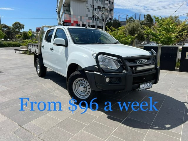 Used Isuzu D-MAX MY17 SX Crew Cab 4x2 High Ride South Melbourne, 2017 Isuzu D-MAX MY17 SX Crew Cab 4x2 High Ride White 6 Speed Sports Automatic Cab Chassis