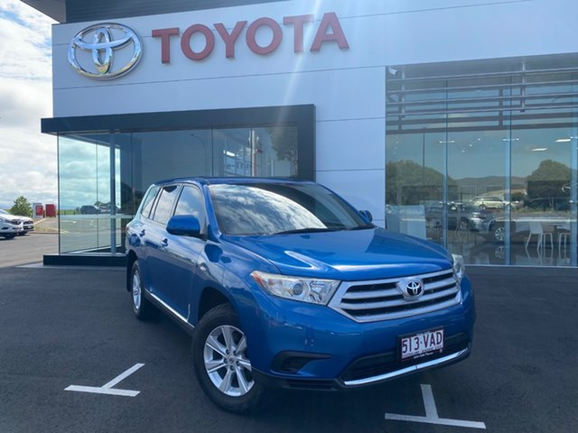 Pre-Owned Toyota Kluger GSU40R MY11 Upgrade KX-R (FWD) 5 Seat Atherton, 2011 Toyota Kluger GSU40R MY11 Upgrade KX-R (FWD) 5 Seat Tidal Blue 5 Speed Automatic Wagon