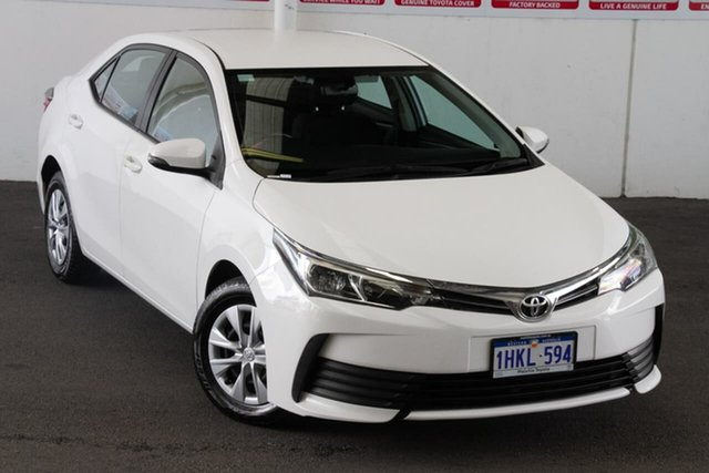 Pre-Owned Toyota Corolla ZRE172R Ascent S-CVT Rockingham, 2019 Toyota Corolla ZRE172R Ascent S-CVT Glacier White 7 Speed Constant Variable Sedan