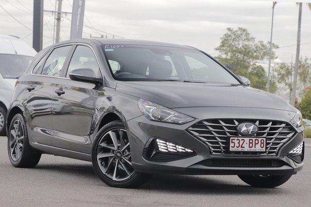 Used Hyundai i30 PD.V4 MY21 Active Rocklea, 2020 Hyundai i30 PD.V4 MY21 Active Amazon Gray 6 Speed Sports Automatic Hatchback