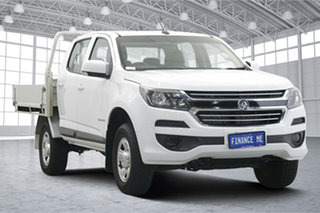 2018 Holden Colorado RG MY18 LS Crew Cab 4x2 White 6 Speed Sports Automatic Cab Chassis.