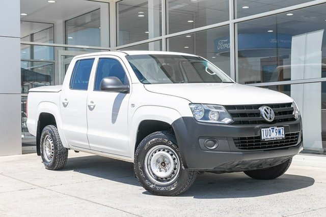 Used Volkswagen Amarok 2H MY14 TDI420 4Motion Perm Ferntree Gully, 2014 Volkswagen Amarok 2H MY14 TDI420 4Motion Perm White 8 Speed Automatic Utility