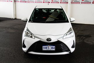 2018 Toyota Yaris NCP130R MY17 Ascent Glacier White 4 Speed Automatic Hatchback.