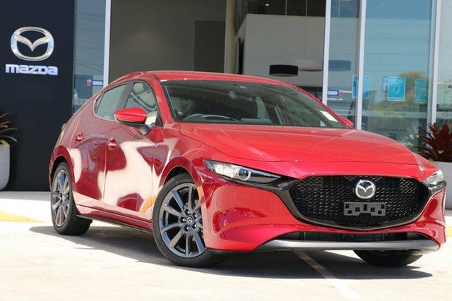 New Mazda 3 BP2H7A G20 SKYACTIV-Drive Evolve Berri, 2021 Mazda 3 BP2H7A G20 SKYACTIV-Drive Evolve Soul Red Crystal 6 Speed Sports Automatic Hatchback