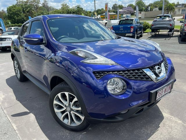 Used Nissan Juke F15 Series 2 ST X-tronic 2WD Gympie, 2015 Nissan Juke F15 Series 2 ST X-tronic 2WD Ink Blue 1 Speed Constant Variable Hatchback