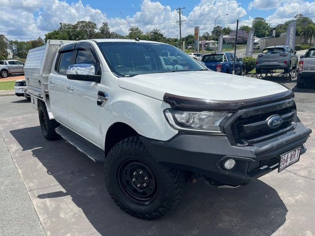 Used Ford Ranger PX MkII XL Gympie, 2016 Ford Ranger PX MkII XL White 6 Speed Manual Cab Chassis