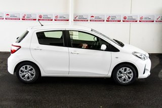 2018 Toyota Yaris NCP130R MY17 Ascent Glacier White 4 Speed Automatic Hatchback
