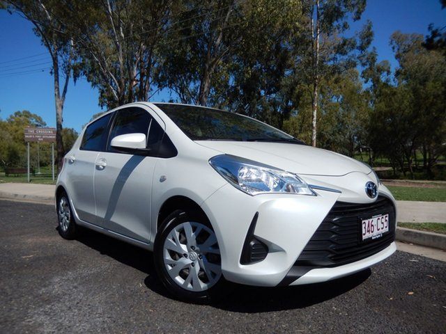 Pre-Owned Toyota Yaris NCP130R MY18 Ascent Dalby, 2018 Toyota Yaris NCP130R MY18 Ascent Crystal Pearl 4 Speed Automatic Hatchback