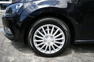 2015 Volkswagen Polo 6R MY15 66 TSI Trendline Black 7 Speed Auto Direct Shift Hatchback.