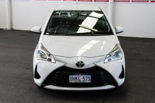2017 Toyota Yaris NCP130R MY17 Ascent Glacier White 5 Speed Manual Hatchback.