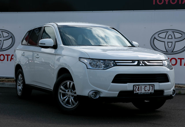 Pre-Owned Mitsubishi Outlander ZH MY12 LS (7 Seat) Warwick, 2012 Mitsubishi Outlander ZH MY12 LS (7 Seat) Glacier White 6 Speed CVT Auto Sequential Wagon