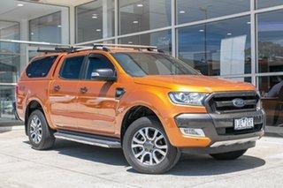 2016 Ford Ranger PX MkII Wildtrak Double Cab Orange 6 Speed Sports Automatic Utility.