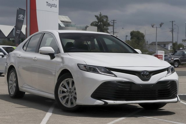 Pre-Owned Toyota Camry ASV70R Ascent Albion, 2019 Toyota Camry ASV70R Ascent Glacier White 6 Speed Sports Automatic Sedan