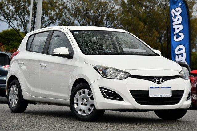 Used Hyundai i20 PB MY14 Active Clarkson, 2014 Hyundai i20 PB MY14 Active White 6 Speed Manual Hatchback