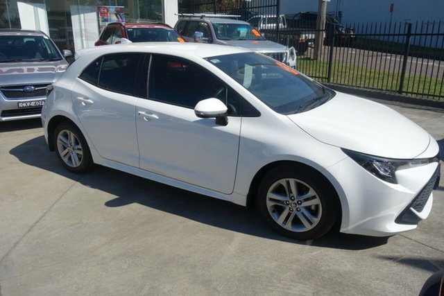 Used Toyota Corolla Mzea12R Ascent Sport East Maitland, 2019 Toyota Corolla Mzea12R Ascent Sport White 10 Speed Constant Variable Hatchback